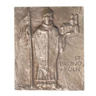 Namenstag Bruno von Köln 13 x 10 cm Bronzerelief Wandbild Schutzpatron