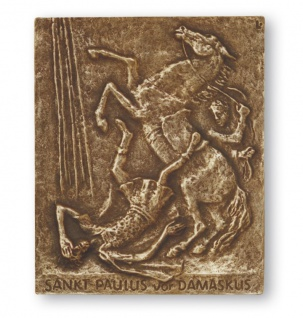 Namenstag Paulus Paul 13 x 10 cm Namenstag Bronzerelief Wandbild Schutzpatron