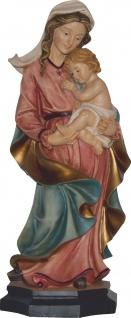 Mutter Gottes mit Jesukind handbemalt auf Sockel Maria mit Kind