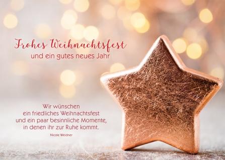 Postkarte Frohes Weihnachtsfest Neujahrswunsch (10 Stück) Adressfeld