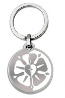 Schlüsselanhänger Luther-Rose weiß 7 cm Christlich