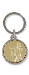 Schlüsselanhänger Christophorus Ø 3, 2 cm Schlüsselring Christopherus Anhänger