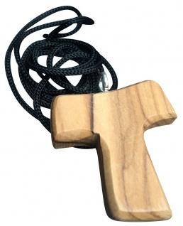 Schmuck Anhänger JESUS Fisch 6,5 cm mit Kordel Olivenholz Bethlehem Holz