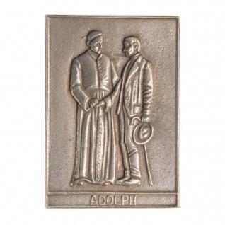 Namenstag Adolph Kolping 8 x 6 cm Bronzeplakette