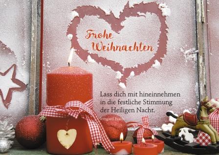 Postkarte Frohe Weihnachten Weihnachtsdeko Adressfeld (10 Stück) Irmgard Erath