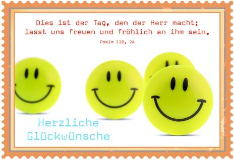 Geburtstagskarte Smiley Herzliche Glückwünsche (6 Stck) Grusskarte Kuvert