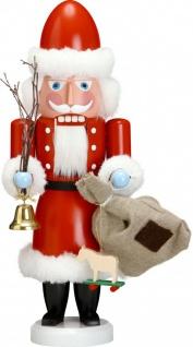 Nussknacker Weihnachtsmann 38 cm Holz-Figur Handarbeit aus Seiffen im Erzgebirge