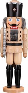 Nussknacker König natur 50 cm Holz-Figur Handarbeit aus Seiffen im Erzgebirge