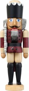 Nussknacker König Esche lasiert aubergine 29 cm Holz-Figur Handarbeit Erzgebirge