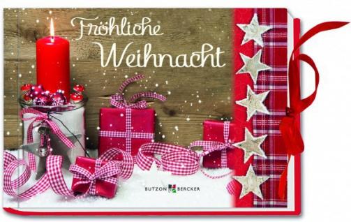 Geschenkbuch Fröhliche Weihnacht, mit Gutscheinfach