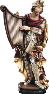 Heiliger David Holzfigur geschnitzt Südtirol Schutzpatron