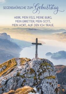 Postkarte Geburtstag Gipfelkreuz 10 St Adressfeld Bibelwort Segen Glück Wunsch