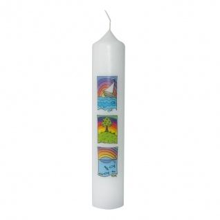 Kommunionkerze Schiff Lebensbaum Fisch 26, 5 cm Kerze zur Kommunion