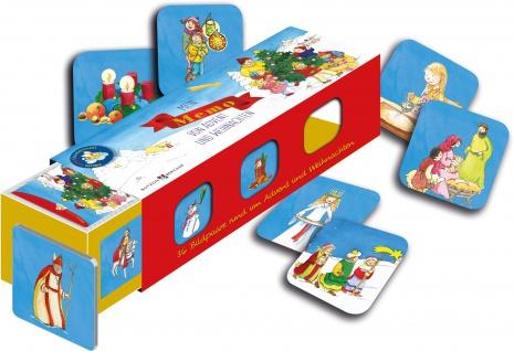 Mein Memo von Advent und Weihnachten Kartenlegespiel mit 36 Bildpaaren