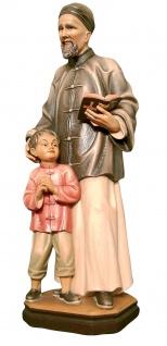 Heiliger Josef Freinademetz Heiligenfigur Holz geschnitzt Südtirol