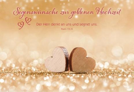 Glückwunschkarte Hochzeit 6 St Kuvert Bibelwort Psalm Segen Wunsch Gratulation