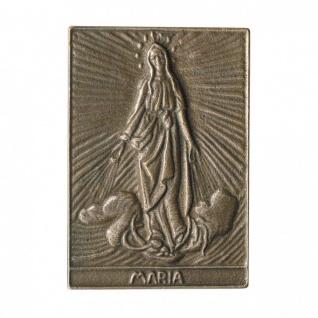Namenstag Maria 8 x 6 cm Bronzeplakette Bronzerelief Wandbild Schutzpatron