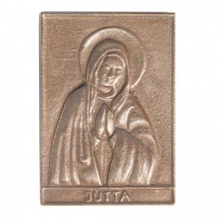 Namenstag Jutta 8 x 6 cm Bronzeplakette Bronzerelief Wandbild Schutzpatron