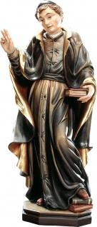 Heiliger Johannes Baptist de La Salle Holzfigur geschnitzt Südtirol Schutzpatron