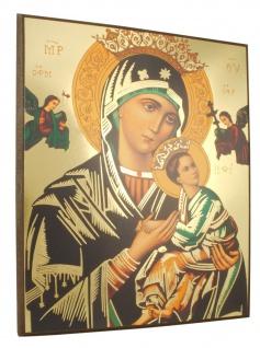 Ikonenbild Madonna mit Kind auf Holzplatte 18 cm Wandbild Deko