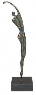 Figur Athlet Bronze Jörg Schröder Sockel Patina Statue Skulptur