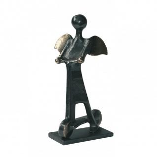 Engel Bronzefigur Taxi Engelchen 12 cm Bronzeengel Engel Figur