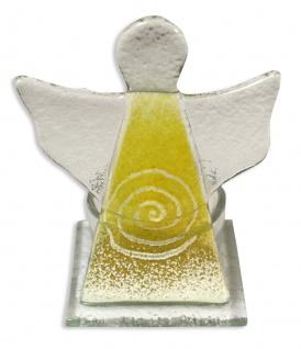 Teelichthalter Schutzengel Spirale Gelb 10 cm Kerzenhalter Kerzenständer