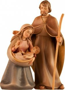 Heilige Familie Jesaja 3 teilig Holz geschnitzt Weihnachtskrippe aus Südtirol