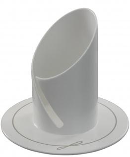 Kerzenhalter weiß elegant lackiert Ø 9 cm für Kerzen Ø 4 cm Taufe Kommunion