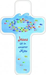 Geschenkset Mit Jesus sind wir stark, Kommunion Buch und Holz Segenskreuz - Vorschau 2