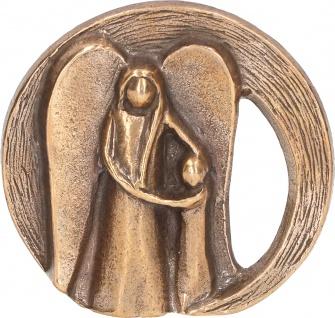 Bronzefigur Dein Schutzengel 6 x 6, 5 cm Engel Figur