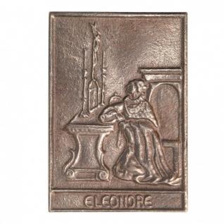 Namenstag Eleonore 8 x 6 cm Bronzeplakette