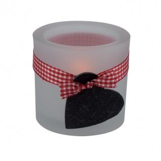 Glaswindlicht Herz inkl. Teelicht Kerzenhalter Kerzenständer Glas für Windlicht