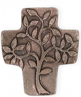 Lebensbaum Symbolkreuz Bronze 10 x 9 cm Wandkreuz Christliches Kreuz
