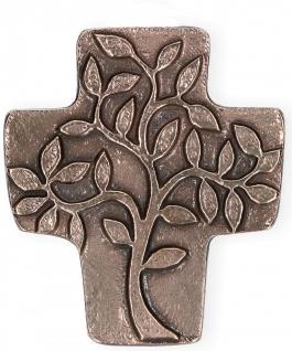 Symbolkreuz Lebensbaum Bronze 10 x 9 cm Wandkreuz Christliches Kreuz