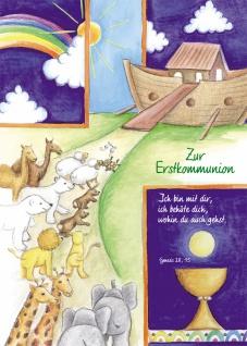 Kommunionkarte Zur Erstkommunion (6 St) Bibel Genesis Grußkarte Kommunion Kuvert
