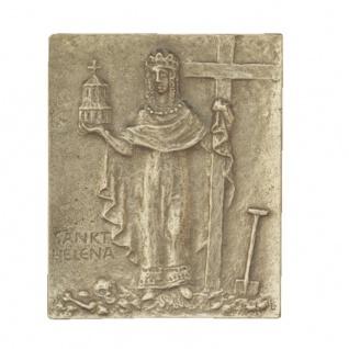 Namenstag Helena Lena 13 x 10 cm Bronzerelief Wandbild Schutzpatron