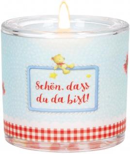 Glaswindlicht Geburt Teelicht Kerzenhalter Geschenkbox Glas für Windlicht