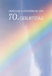 Glückwunschkarte Herzliche Segenswünsche zum 70. Geburtstag (6 St) Regenbogen