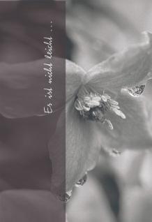 Trauerkarte Es ist nicht leicht.. (6 St) Ruth Rau Grußkarte Kuvert