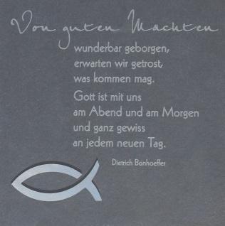 Wandrelief Von guten Mächten.. Bonhoeffer Schiefer
