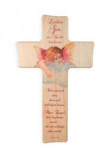 Kinderkreuz Die Nacht bricht an.. Buche 15 cm 20 cm Wandkreuz Holz Kreuz Gebet