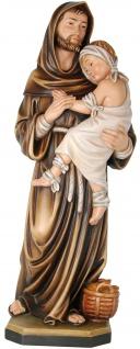Heiliger Johannes von Gott Holzfigur geschnitzt Schutzpatron der Kranken