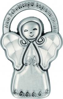 Plakette Mein Schutzengel begleitet mich Metall selbstklebend mit Magnet