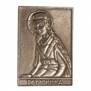 Namenstag Petronella 8 x 6 cm Bronzeplakette Bronzerelief Wandbild Schutzpatron