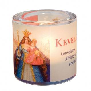 Kevelaer Windlicht 6, 5 x 6, 5 x 10 cm Glas Teelicht Kerzenhalter