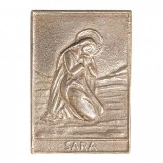 Namenstag Sara 8 x 6 cm Bronzeplakette Bronzerelief Wandbild Schutzpatron