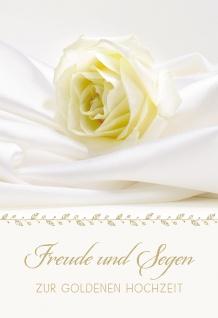 Glückwunschkarte Goldene Hochzeit 6 St Kuvert Rose Segen Liebe Gemeinsamkeit