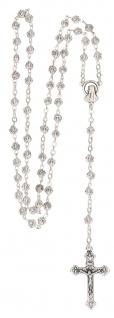 Rosenkranz Rosenperle 44 cm Metallperlen Rosenform Gebetskette