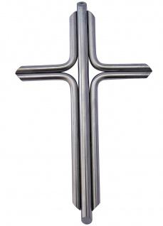 Wandkreuz Edelstahl schlicht Kreuz 42 x 23 cm Handarbeit Kruzifix Christlich